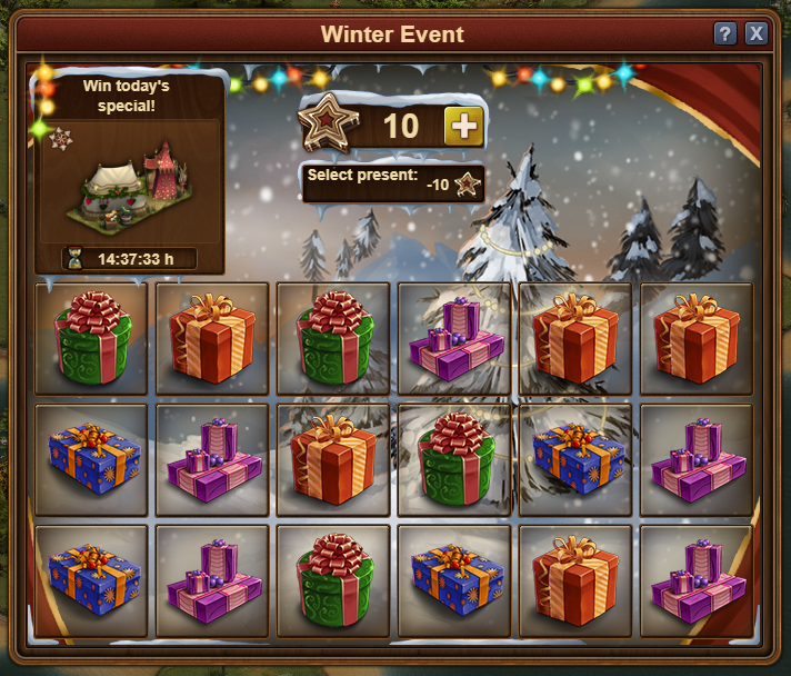 Forge of empires winter event 2018 prizes
