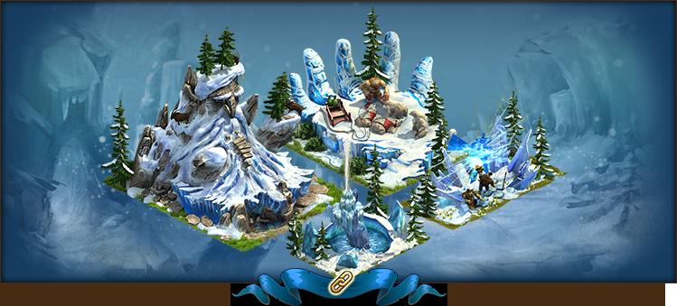 Evento de invierno de 2017 : los tres gigantes de los glaciares Set01